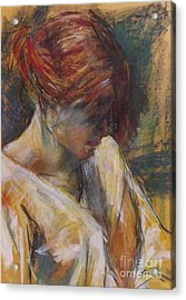 Acrylic Print featuring the painting Carmen Of Lautrec II by Debora Cardaci