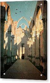 Carmo Ruins In Lisbon Acrylic Print