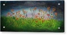 Carnations At Dusk Acrylic Print by Jacob Stempky