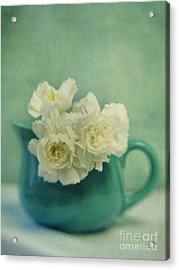 Carnations In A Jar Acrylic Print