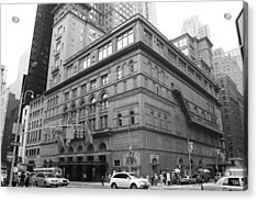 Carnegie Hall Acrylic Print by Christopher Kirby