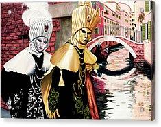 Carnevale Venezia - Prints From Original Oil Painting Acrylic Print