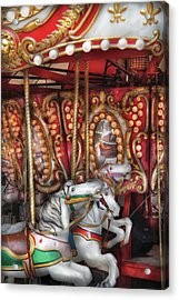 Carnival - The Carousel Acrylic Print by Mike Savad