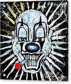Carnival Clown Acrylic Print