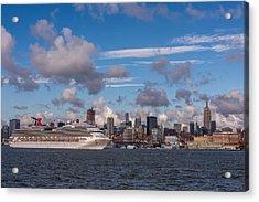 Carnival Cruise Splendor Waterfront Hoboken Nj Acrylic Print