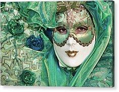 Carnival In Green Acrylic Print