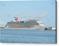 Acrylic Print featuring the photograph Carnival Magic At Port Canaveral by Bradford Martin