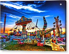 Carnival Acrylic Print by Olivier Le Queinec