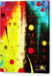 Acrylic Print featuring the digital art Carnival by Silvia Ganora