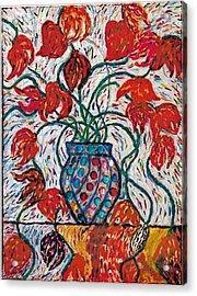 Carnivale Of Flowers Acrylic Print by Brenda Adams