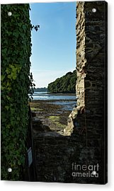 Acrylic Print featuring the photograph Photographs Of Cornwall Carnon Mine Window by Brian Roscorla