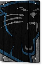 Caroilina Panthers Wood Fence Acrylic Print by Joe Hamilton
