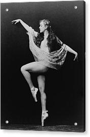 Carol Bergman, A Ziegfeld Girl Posed Acrylic Print by Everett
