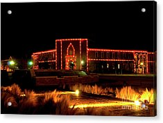 Acrylic Print featuring the photograph Carol Of Lights At Science Building by Mae Wertz