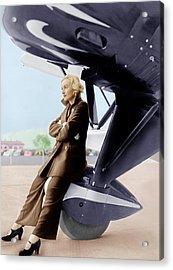 Carole Lombard, Ca. 1935 Acrylic Print by Everett