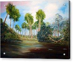 Carolina Breeze Acrylic Print by Phil Burton