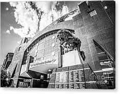 Carolina Panthers Stadium Black And White Photo Acrylic Print by Paul Velgos