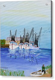 Carolina Shrimpers Acrylic Print by Bill Hubbard