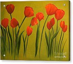 Carolina Tulips Acrylic Print by Carol Sweetwood
