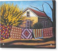 Carolines Quilts Acrylic Print