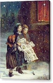Carols For Sale  Acrylic Print by Augustus Edward Mulready
