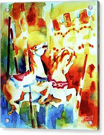 Acrylic Print featuring the painting Carousal 4 by Kathy Braud
