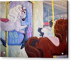 Carousel Acrylic Print by Andreia Medlin
