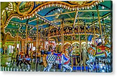 Carousel At Peddlers Village Acrylic Print