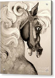 Acrylic Print featuring the mixed media Carousel by Carolyn Weltman