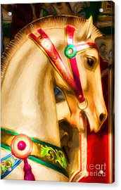 Carousel Colors Acrylic Print by Mel Steinhauer