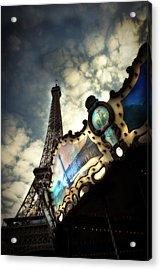 Carousel Eiffel Acrylic Print by Cabral Stock