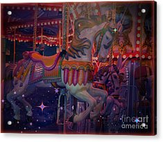 Carousel Horse Acrylic Print by Annie Gibbons