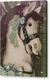 Carousel Horse Acrylic Print by JAMART Photography