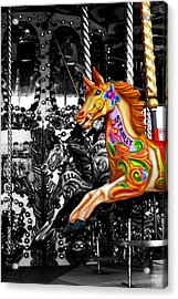 Carousel In Isolation Acrylic Print