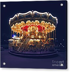 Carousel In Paris Acrylic Print by Elena Elisseeva