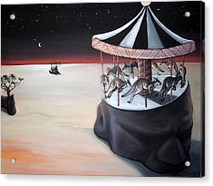 Carousel In The Head Acrylic Print by Charlotte Oedekoven