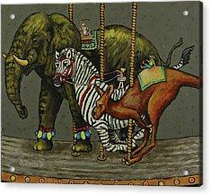 Carousel Kids 2 Acrylic Print by Rich Travis
