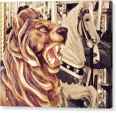 Carousel King Acrylic Print by JAMART Photography