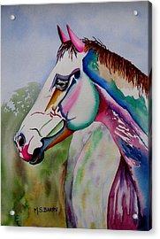 Carousel Acrylic Print by Maria Barry
