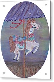 Carousel Acrylic Print by Mikki Alhart