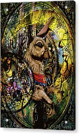 Acrylic Print featuring the photograph Carousel Rabbit by Michael Arend
