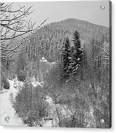Carpathian Winter. Sheshory, 2010. Acrylic Print