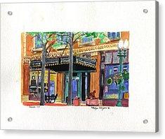 Carpenter Hotel-rain Acrylic Print