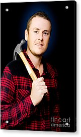 Carpenter With A Hammer Acrylic Print by Jorgo Photography - Wall Art Gallery