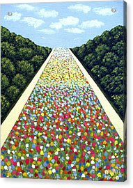 Carpet Of Flowers Acrylic Print by Frederic Kohli