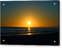 Carpinteria State Beach At Sunset Acrylic Print by Bransen Devey