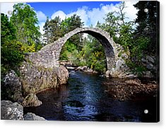 Carr Bridge Scotland Acrylic Print by Don and Bonnie Fink