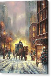 Carriage Ride Acrylic Print by Chuck Pinson