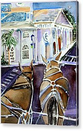 Carriage Ride In Charleston Acrylic Print