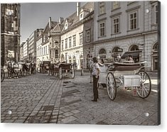 Carriages Back To Stephanplatz Acrylic Print